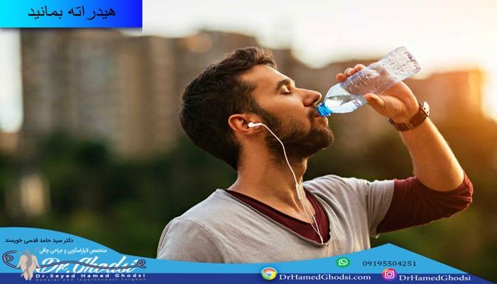 مصرف آب زیاد با هدف لاغر کردن بازو